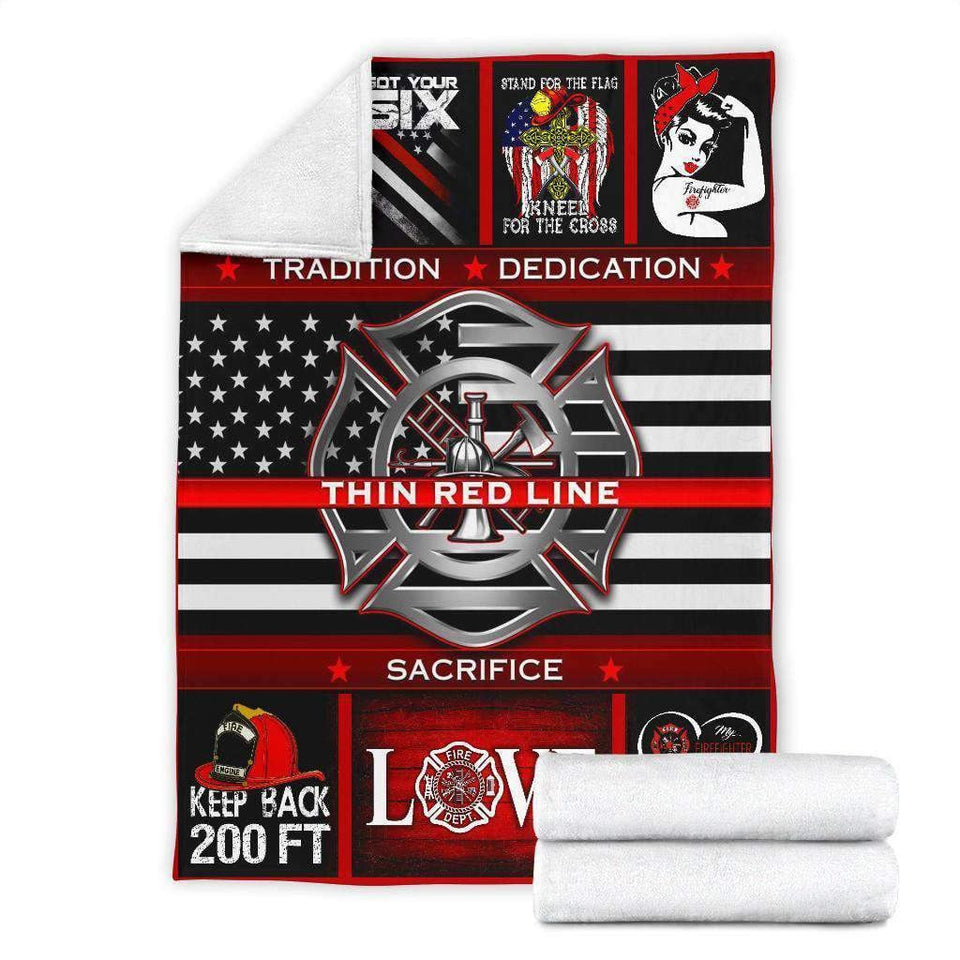 BLANKET - Firefighter - Thin Red Line - yenyenstore