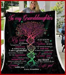 BLANKET Granddaughter (Grandma) My love for you is a journey
