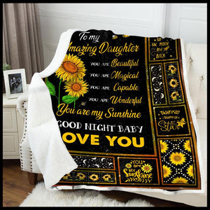 Blanket To My Daughter You Are - Zalooo.com Custom Wall Art Canvas