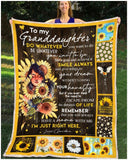BLANKET GRANDDAUGHTER (Grandma) Do Whatever You Want To Do - Zalooo.com Custom Wall Art Canvas