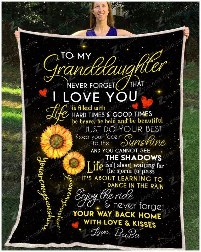 BLANKET - Granddaughter (BaBa) - You are my sunshine