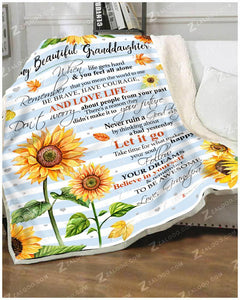 BLANKET - SUNFLOWER - Granddaughter (Grandpa) - Remember to be Awesome