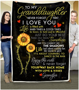 BLANKET - Granddaughter (Grandpa) - You are my sunshine