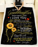BLANKET - Granddaughters (Grandpa) - You are my sunshine