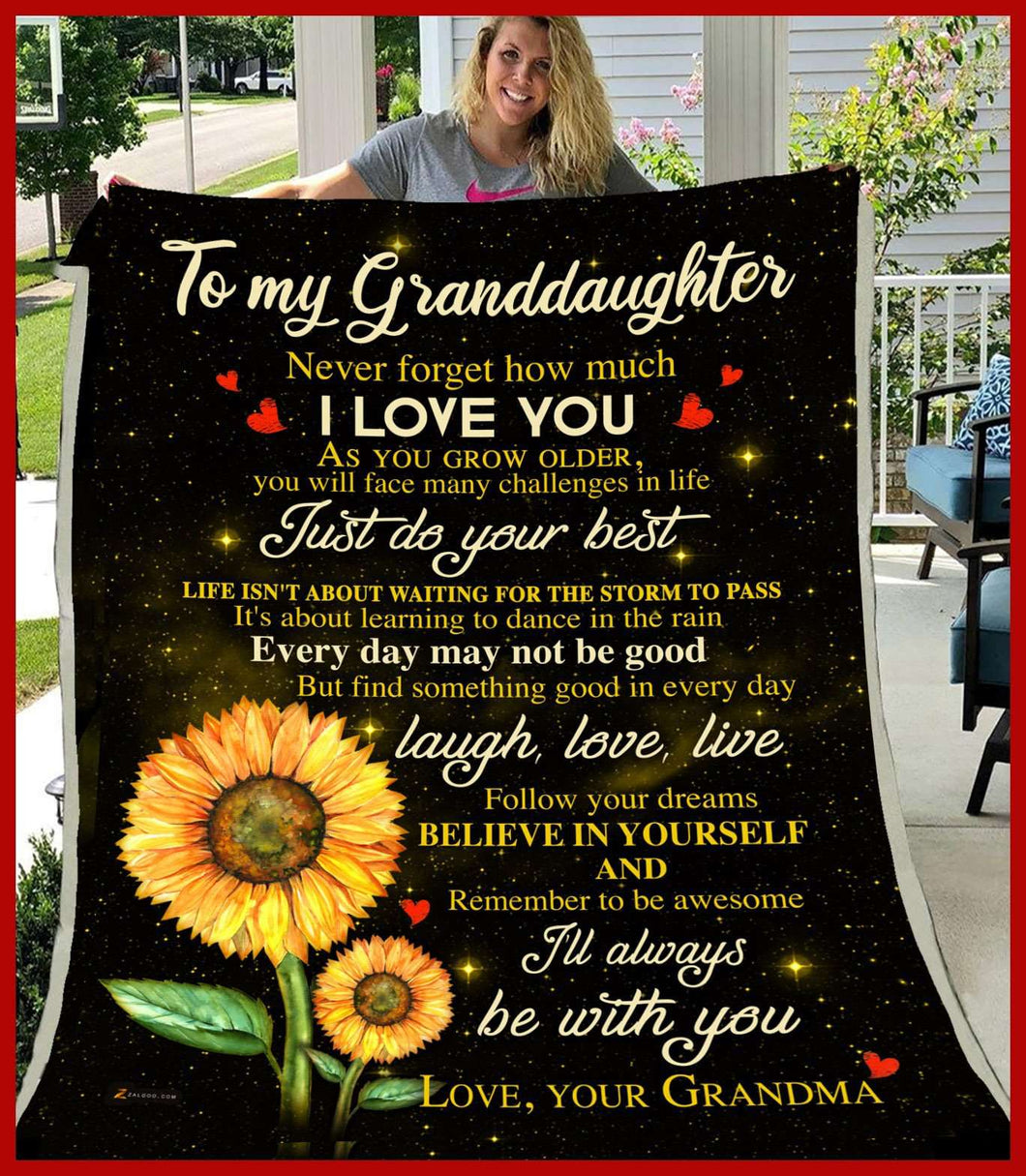 PP - BLANKET - Granddaughter (Grandma) - I'll always be with you - yenyenstore