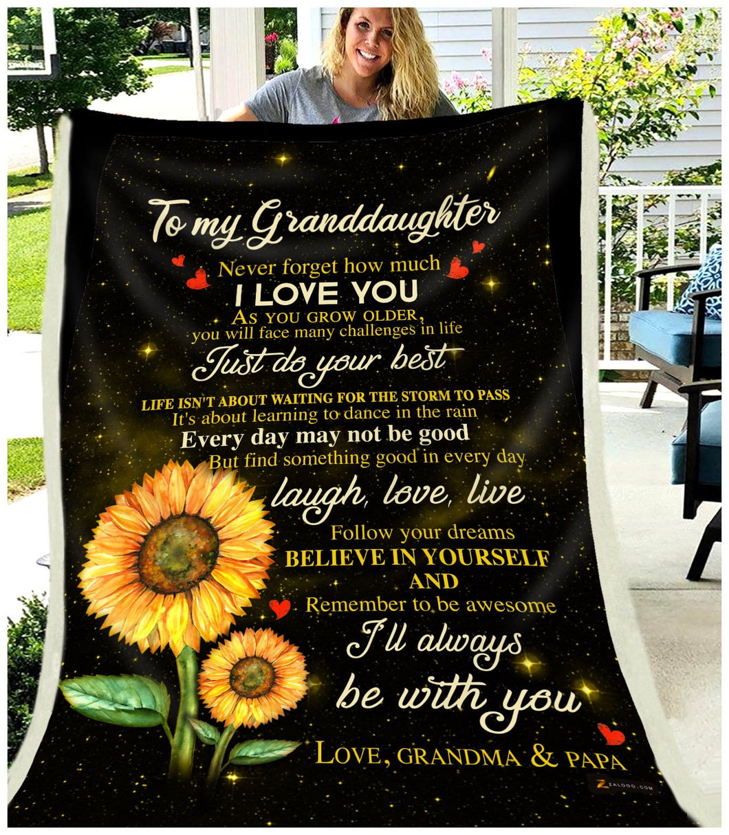 BLANKET Granddaughter (Grandma & Papa) I'll always be with you