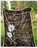 BLANKET DAISY GRANDSON (Grandpa) I'll always be with you - Zalooo.com Custom Wall Art Canvas