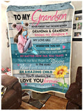 BLANKET The bond between Grandma and Grandson - Zalooo.com Custom Wall Art Canvas