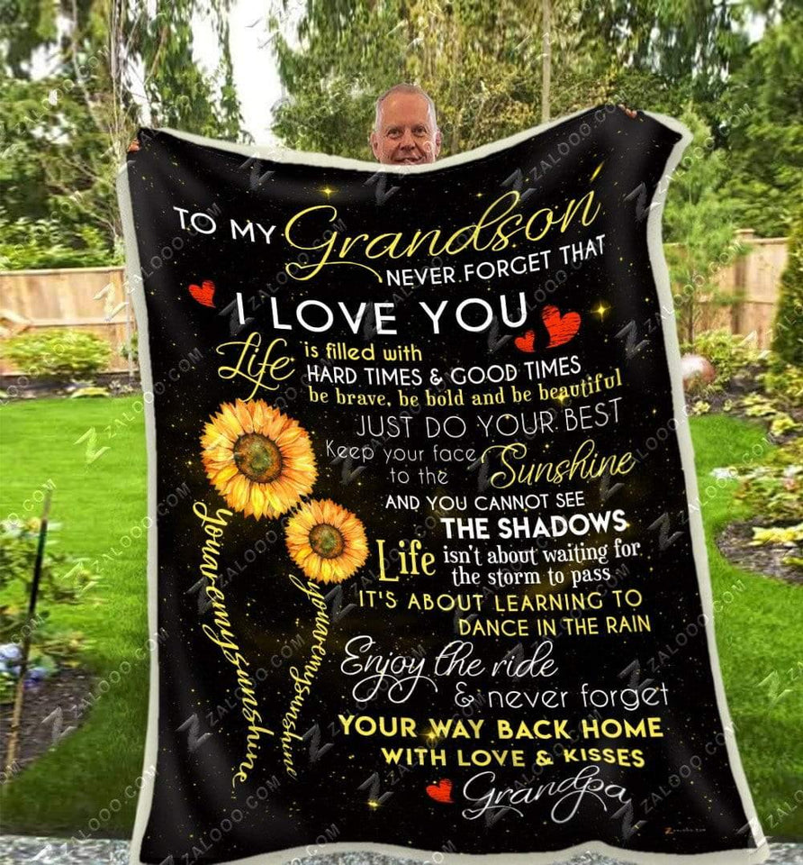 BLANKET - GRANDSON (Grandpa)  - You are my sunshine