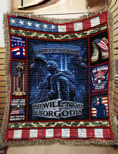 Woven Blankets - Veteran - You will never be forgotten - yenyenstore