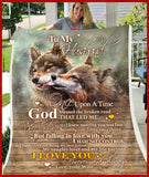 BLANKET WOLF To my Husband God Blessed The Broken Road Ver1 - Zalooo.com Custom Wall Art Canvas