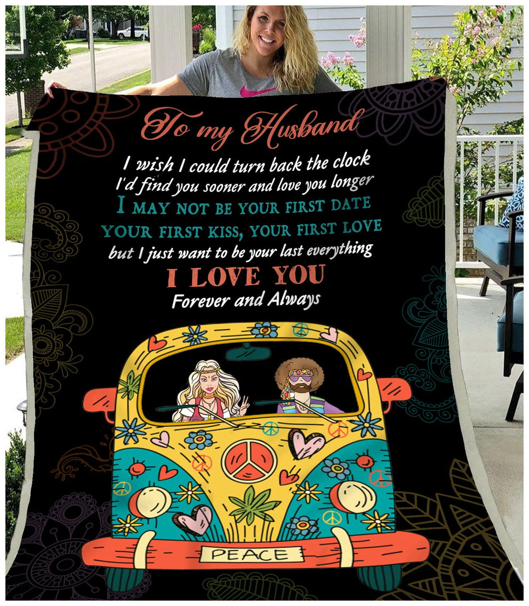 BLANKET Hippie To My Husband