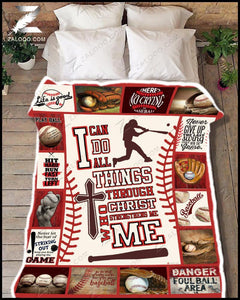 Blanket - Baseball - I can do all things through Christ