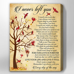 Zalooo I Never Left You Cardinal Wall Art Canvas
