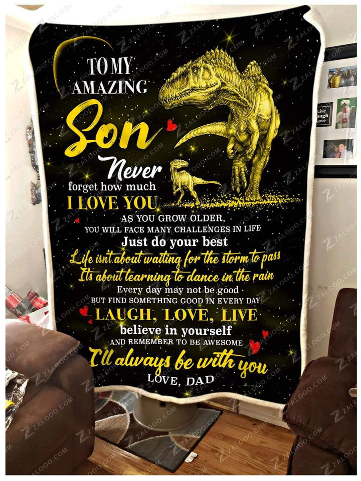 BLANKET - DINOSAUR - Son (Dad) - I'll always be with you