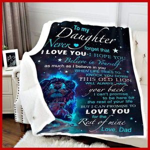 BLANKET - Daughter (Dad) - I will always have your back - yenyenstore