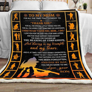 Blanket - Firefighter -  To My Mom - Thank You - yenyenstore