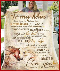 BLANKET - HORSE - To my Man - I Choose Both