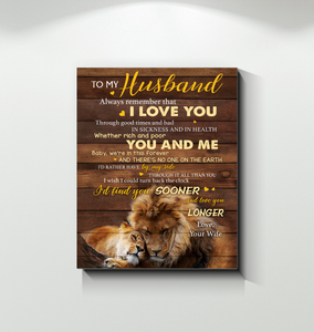 CANVAS - LION - To my Husband - You and Me 2