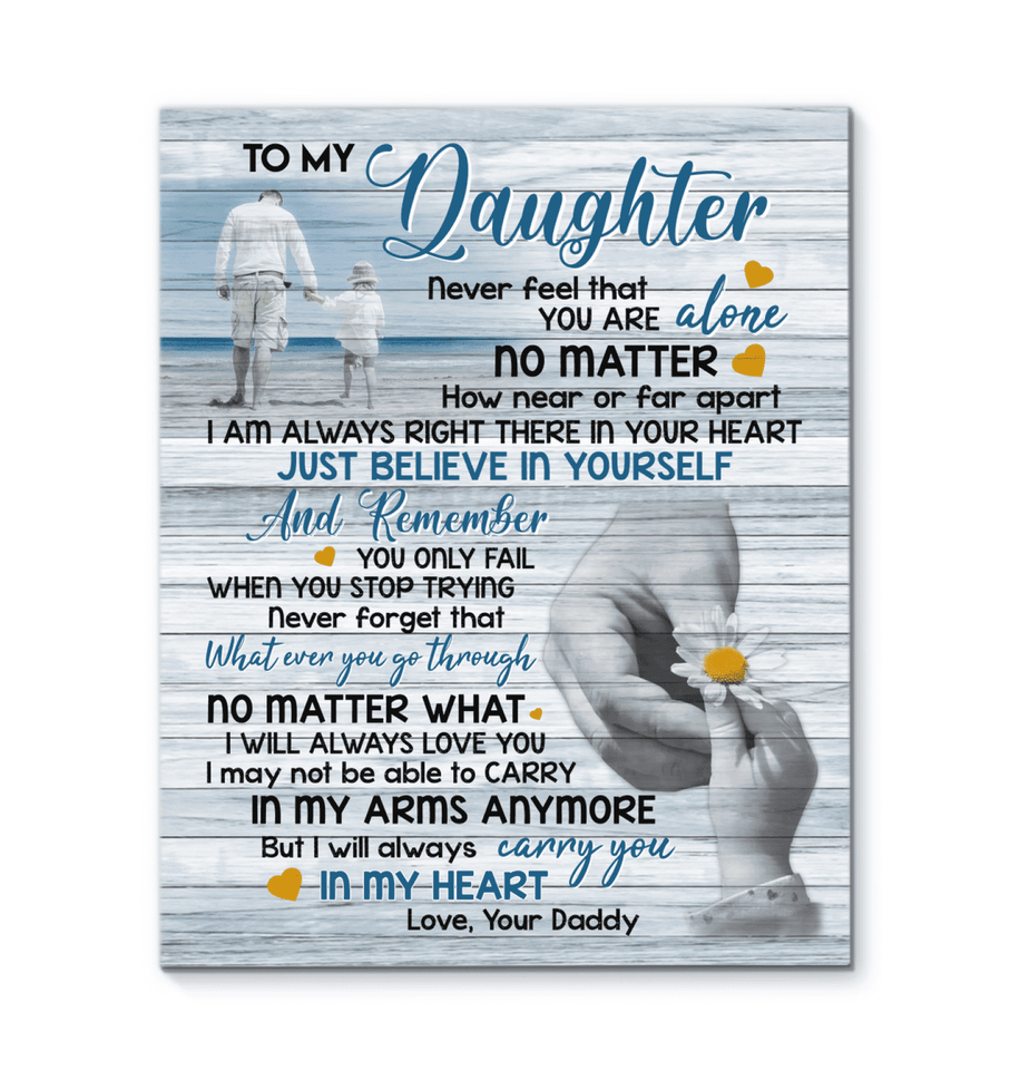 CANVAS - To my Daughter - I'm always right there - yenyenstore