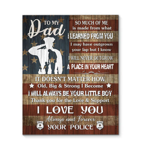 CANVAS - Police - Dad - I love you - yenyenstore