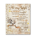 CANVAS - DEER - To My Wife - I choose both