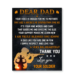 CANVAS - Veteran - Dear Dad - Big heartfelt thank you - yenyenstore