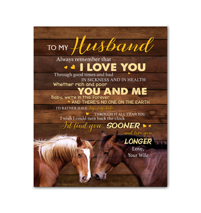CANVAS - HORSE - To my Husband - You and Me