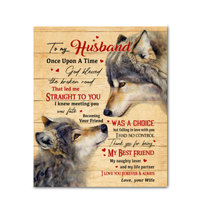 CANVAS - WOLF - To my Husband - Once Upon A Time