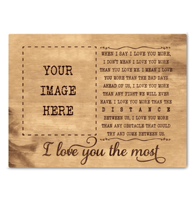 I love you the most - Custumize Wooden Canvas - yenyenstore