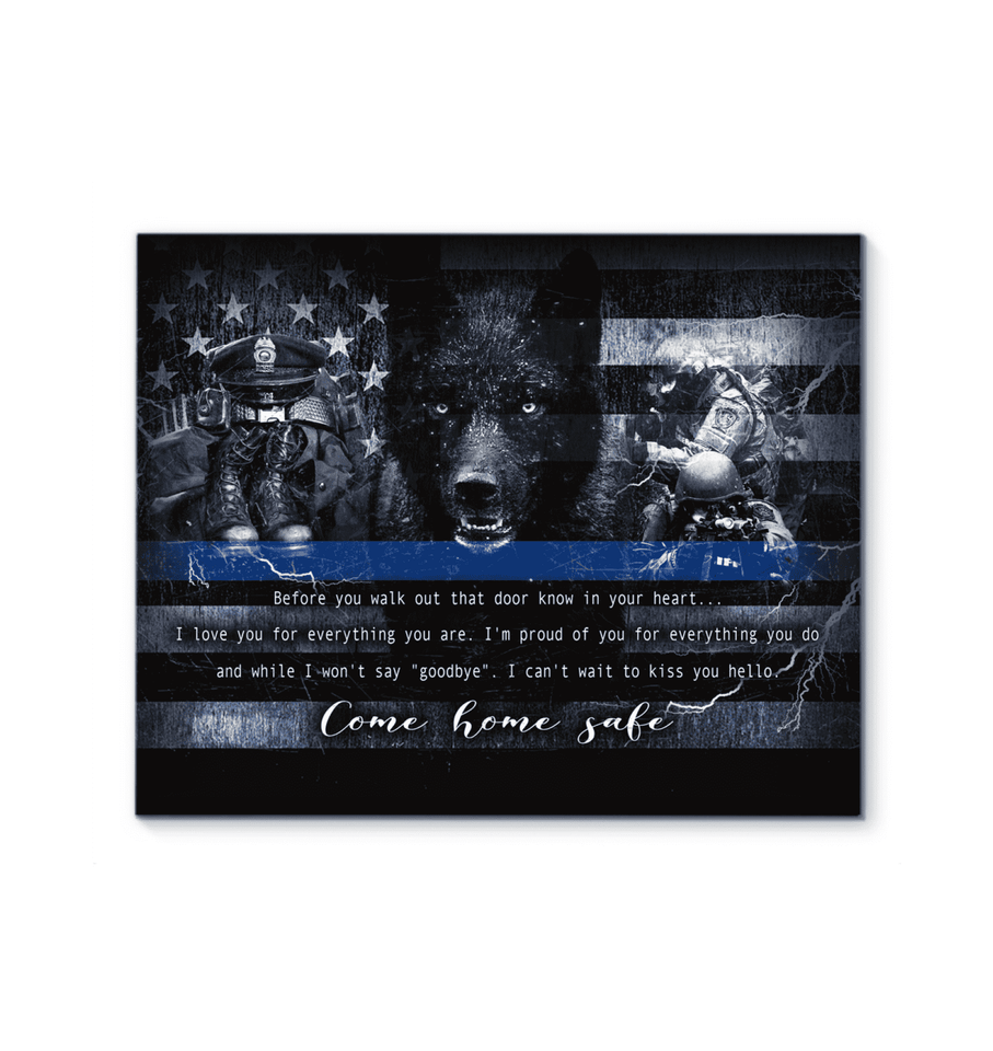 CANVAS - POLICE - Come home safe Ver2 (1 piece) - yenyenstore