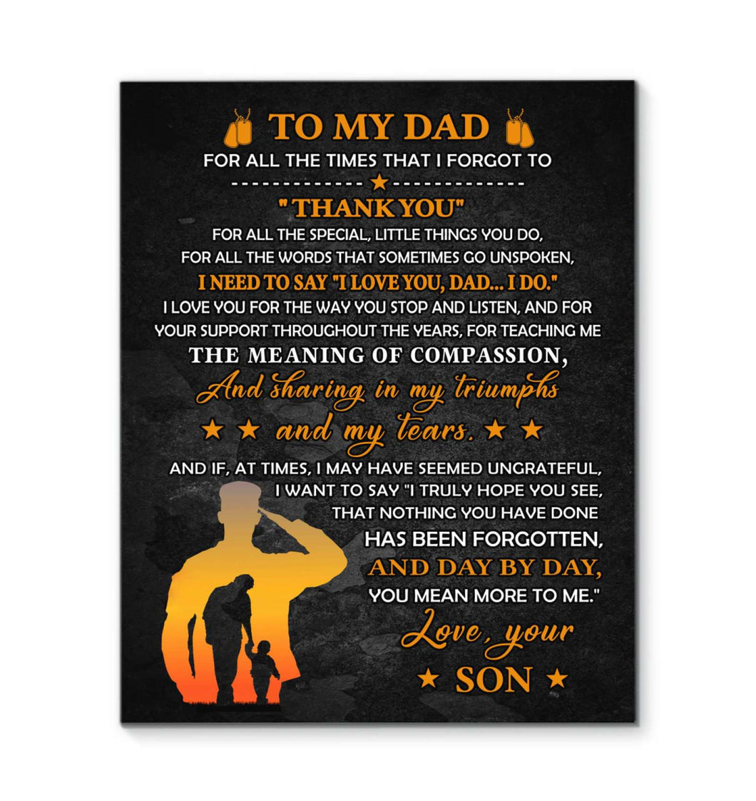CANVAS - Veteran - To my Dad - Thank you - yenyenstore