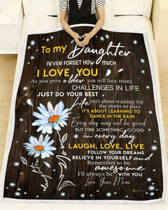 BLANKET DAISY DAUGHTER (Mom) I'll always be with you - Zalooo.com Custom Wall Art Canvas