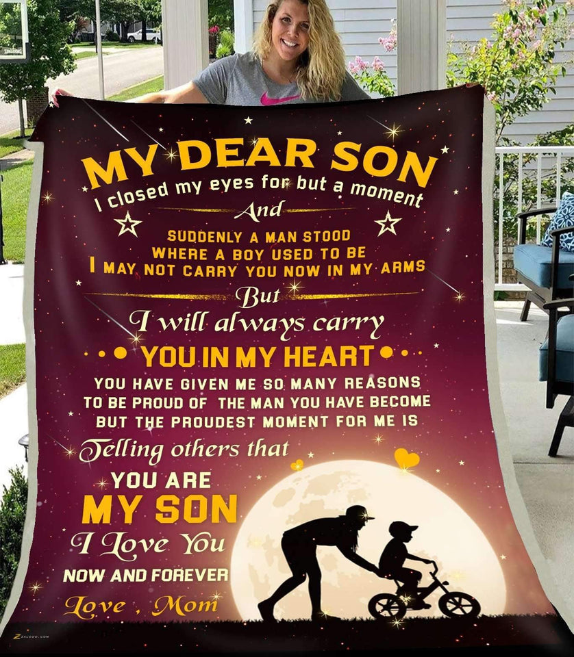 BLANKET - MY DEAR SON - I closed my eyes for but a moment (Mom) - yenyenstore