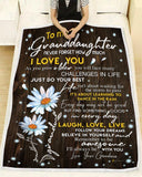 BLANKET - DAISY - Granddaughter (Grandma) - I'll always be with you