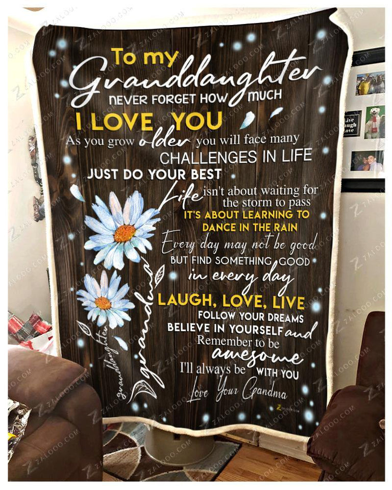 BLANKET DAISY Granddaughter (Grandma) I'll always be with you