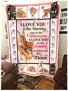 BLANKET DEER I LOVE YOU - Zalooo.com Custom Wall Art Canvas