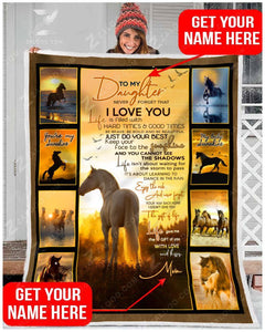 Blanket - Horse - To My Daughter - You Are My Sunshine