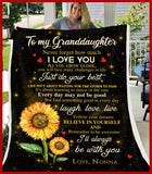 BLANKET Granddaughter (Nonna) I'll always be with you