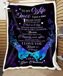 BLANKET To my Wife Once upon a time