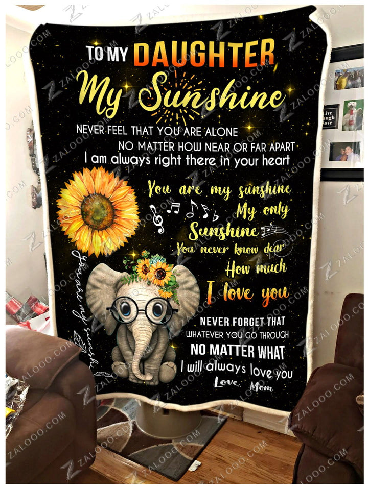 BLANKET ELEPHANT Daughter (Mom) My only Sunshine