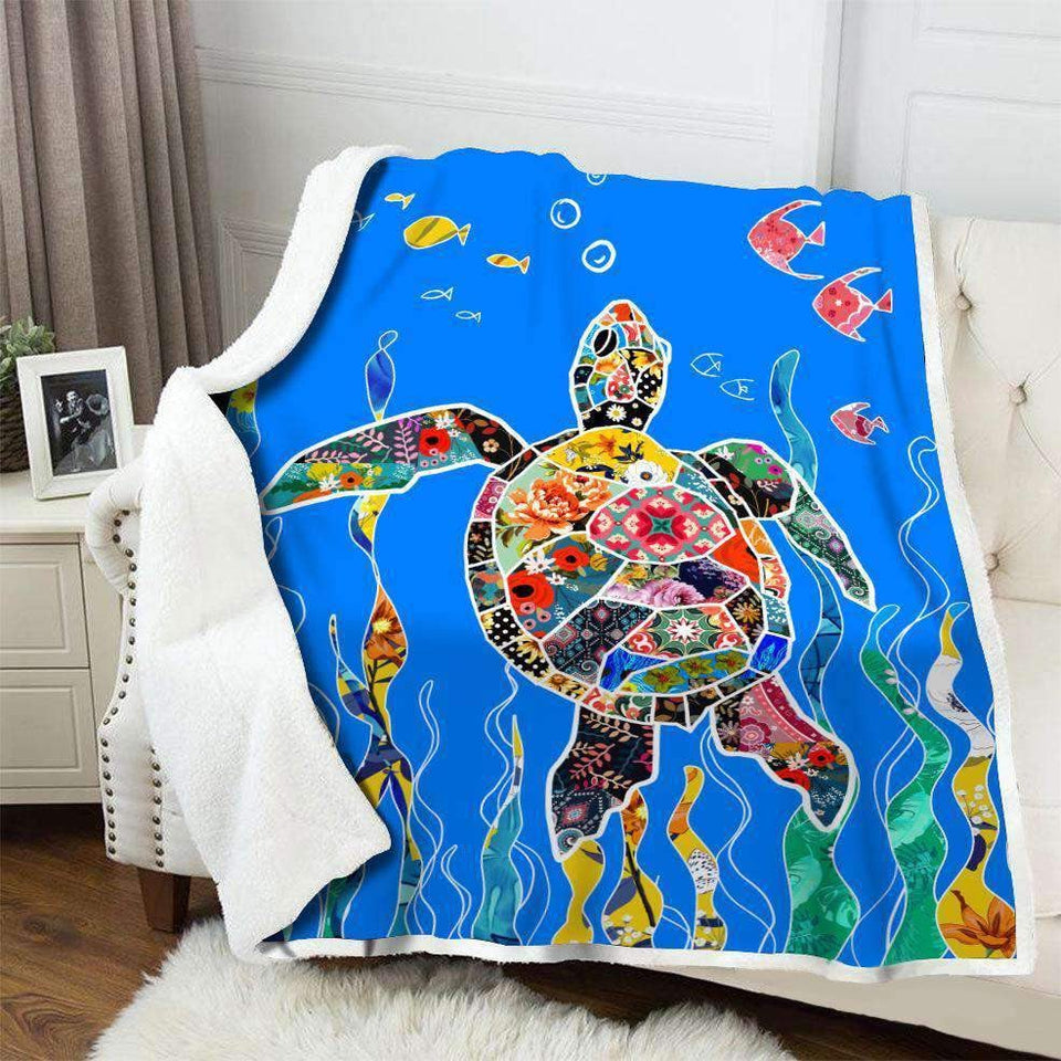BLANKET - Cute Turtle - yenyenstore
