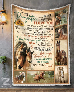 Blanket Horse To My Daughter (Dad) I'll Always Be There - Zalooo.com Custom Wall Art Canvas