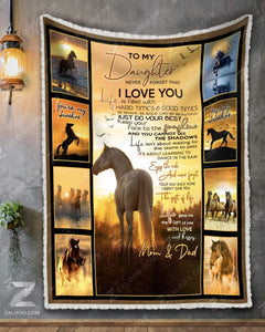 Blanket - Horse (Mom&Dad) - To My Daughter - You Are My Sunshine