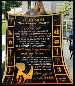 Blanket - Nurse -  To My Mom - Thank You - yenyenstore