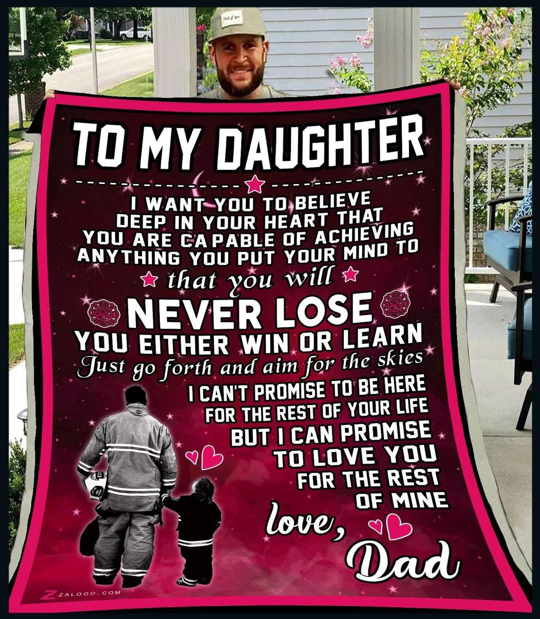 Blanket - Firefighter -  To My Daughter - I want you - yenyenstore