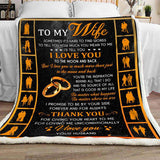 Blanket - To My Wife - Thank You - yenyenstore