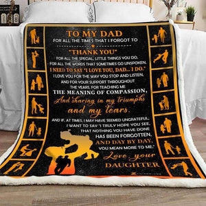 Blanket - To My Dad - Thank You - yenyenstore