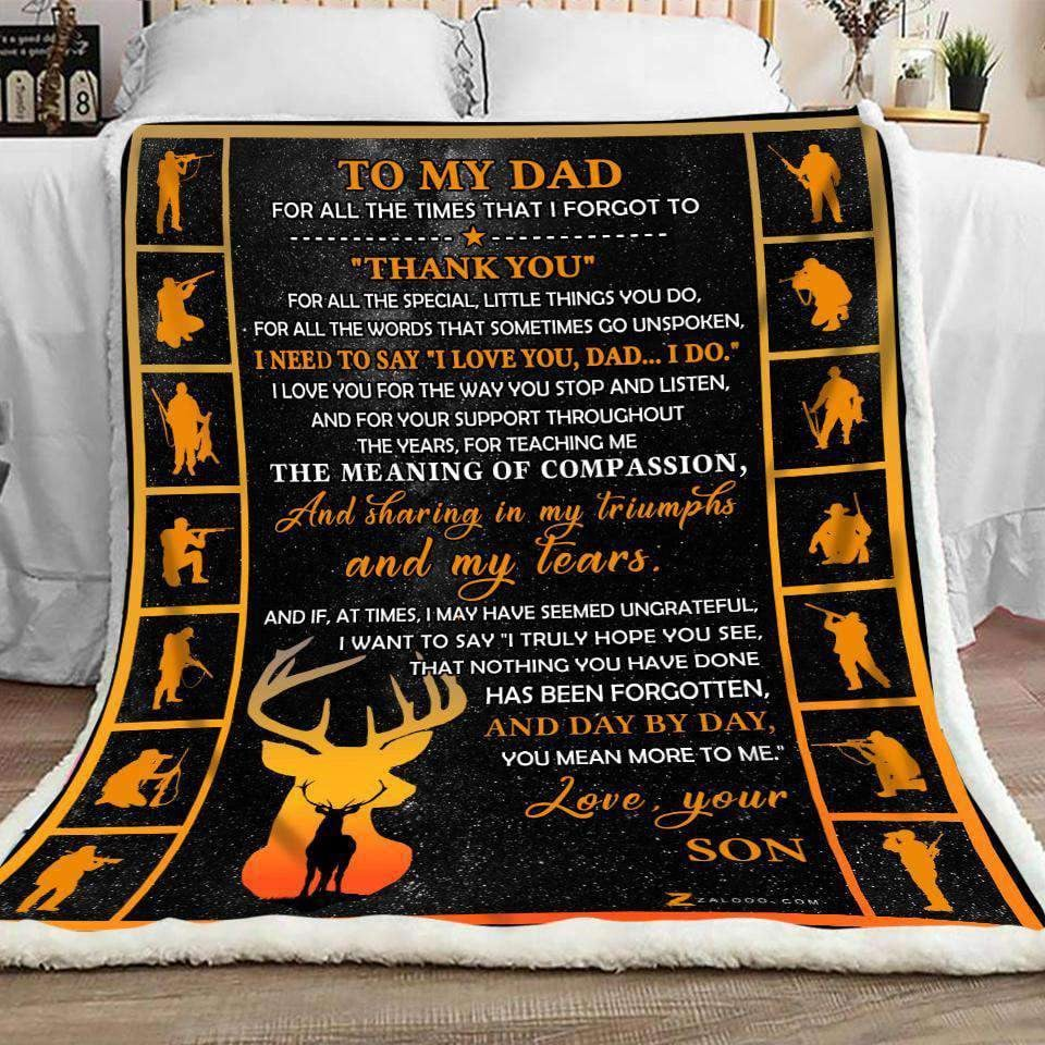 Blanket - Hunting - To My Dad - Thank You - yenyenstore