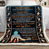 Blanket - Lacrosse - To My Mom - Thank You - yenyenstore